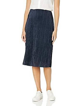 Nic+Zoe Womens REVAMP Pleated Skirt, Dark Indigo Extra Small
