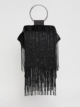 238916e94a Asos Pochette avec poignées à franges et perles - Noir