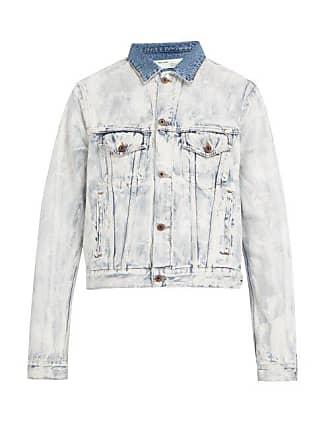 Off-white Off-white - Bleached Denim Jacket - Mens - White