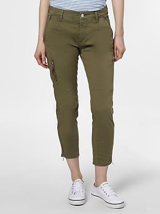 MAC Damen Hose - Rich cargo cotton grün