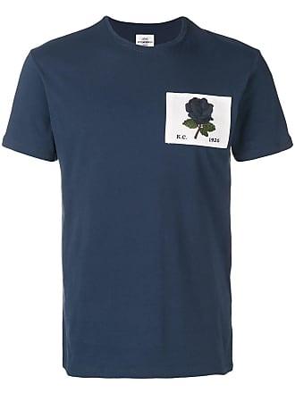 Kent & Curwen Camiseta com patch de rosa - Azul