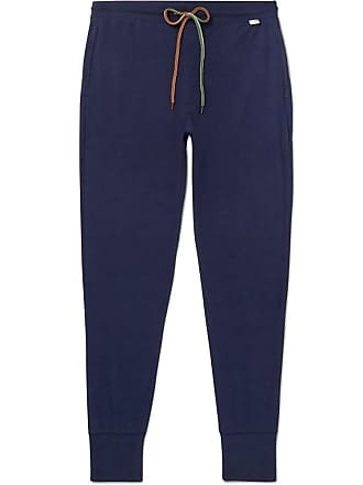 Paul Smith Slim-fit Tapered Cotton-jersey Sweatpants - Navy