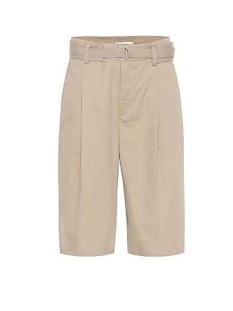 Vince High-rise cotton and linen shorts