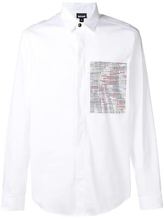 Just Cavalli Camisa com aplicação de cristais - Branco