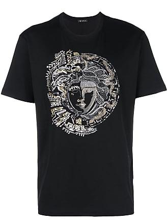 Versace Camiseta com aplicação Medusa - Preto