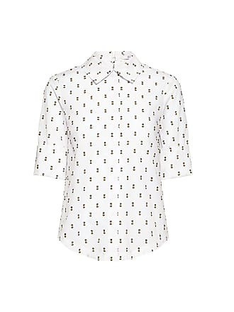 Derek Lam Button and Tie Back Embroidery Shirt Yellow/white