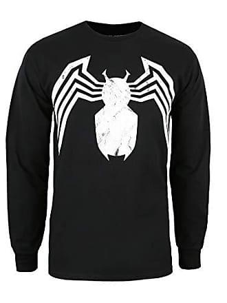 c81e976f2f2 MARVEL Avengers Venom Emblem Camisa Manga Larga, Negro (Black Blk), X-