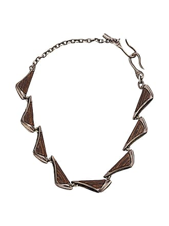 Tobias Wistisen multi plate necklace - Marrom