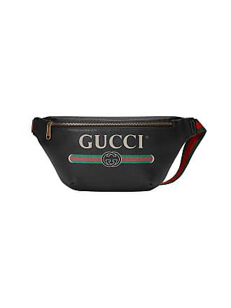 2c9db93803b Gucci black Gucci Print leather belt bag