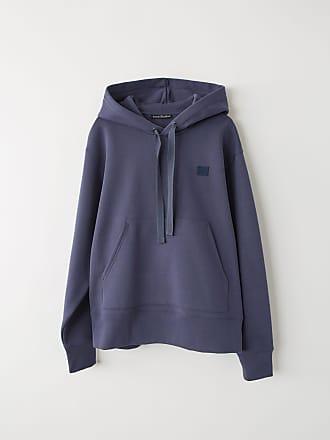 Acne Studios Ferris Face Denim Blue Hooded sweatshirt