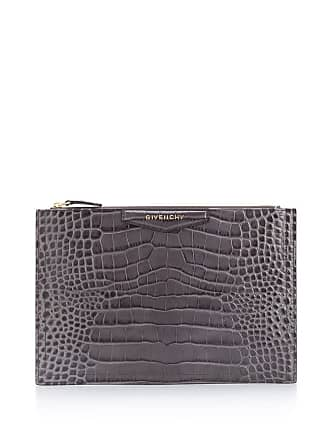 Givenchy Antigona medium clutch. - Cinza