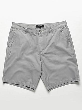 21 Men Woven Twill Shorts at Forever 21 Grey