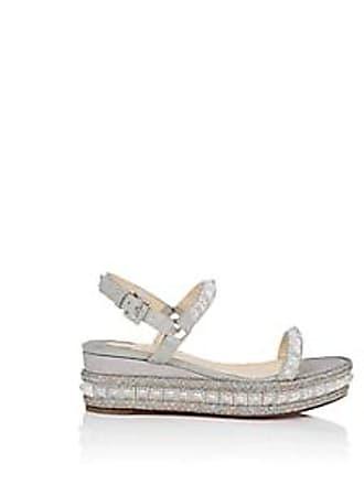 d8901cfa11f Christian Louboutin Womens Pyradiams Glitter Platform-Wedge Sandals -  Version Ab Size 6