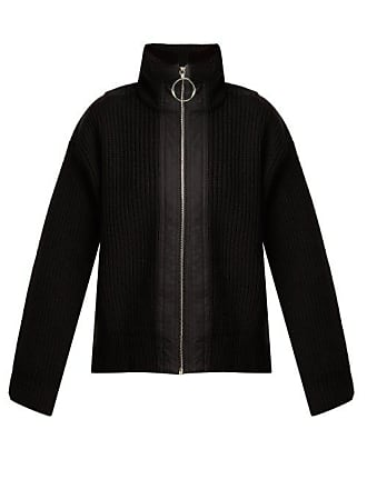 Paco Rabanne Ribbed Knit Wool Jacket - Womens - Black