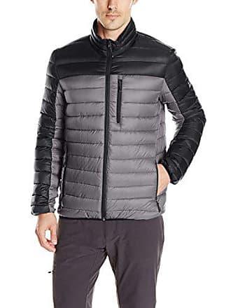 ZeroXposur Mens Relay Packable Sweater Down, Asphalt, L