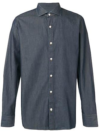 Ermenegildo Zegna plain button shirt - Blue
