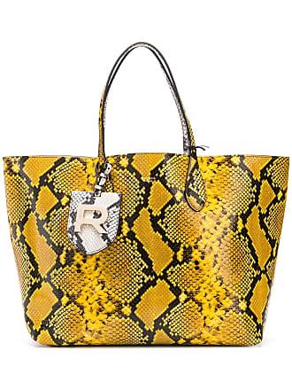 Rochas snake effect tote bag - Amarelo