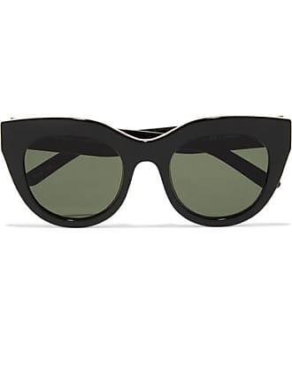 d140ac4c223d4 Le Specs Air Heart Cat-eye Acetate And Gold-tone Sunglasses - Black