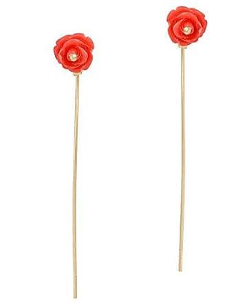 Tinna Jewelry Brinco Florzinha Rosa Caule Longo