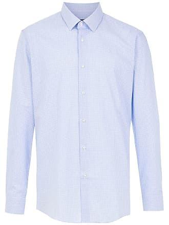 HUGO BOSS Camisa slim fit stretch - Azul