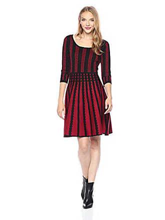 31f4de6d0e8 Gabby Skye Womens 3 4 Sleeve Scoop Neck Sweater Fit   Flare Dress