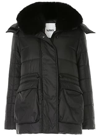 Yves Salomon - Army fox fur trimmed hood padded jacket - Black