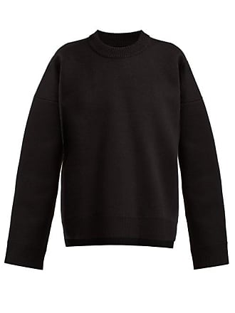 Paco Rabanne Side Zip Cotton Sweater - Womens - Black