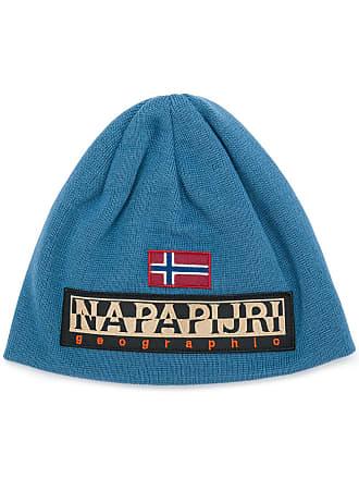 Napapijri Berretto con logo - Di Colore Blu 818309cd3926