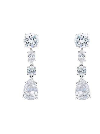 Fantasia Sterling Silver Multi Shape Drop Earrings