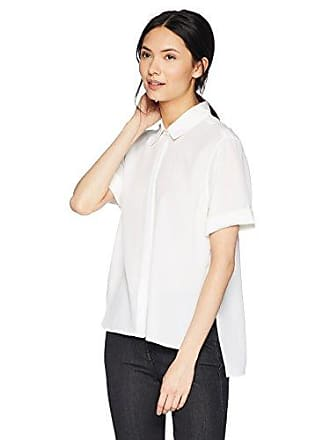 Equipment Womens Sandwashed Crepe De Chine Silk Paulette Blouse, Bright White, Medium