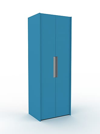 MYCS Dressing - Bleu, design, armoire penderie pour chambre ou entrée, à portes battantes - 84 x 233 x 62 cm, modulable