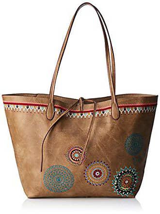 50a43d4f1 Desigual Bols_siara Capri Not Reversible, Shoppers y bolsos de hombro Mujer,  Marrón (Beige