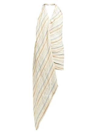 Jacquemus Spezia Cotton And Linen Blend Halterneck Dress - Womens - Beige Multi