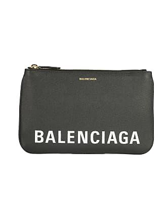 5d9e9aa288 Balenciaga WOMENS 5457730OTDM1000 BLACK LEATHER CLUTCH