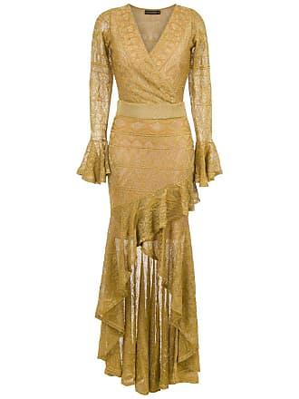 Cecilia Prado Vestido longo Gustava de tricô - Amarelo