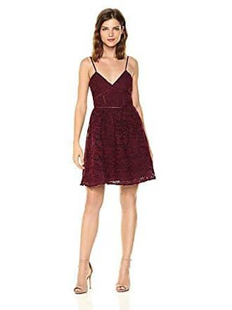 BB Dakota Womens Sutton Fit N Flare Lace Dress, Bordeaux, 6
