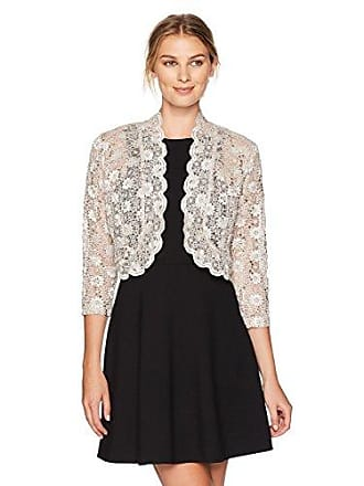 2c7028419dd R M Richards Womens 1 Piece Laced Shrug with Sequins Missy in Champagne