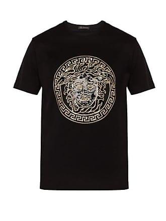 ec4e4da6029 Versace Medusa Head Sequinned Motif T Shirt - Mens - Black