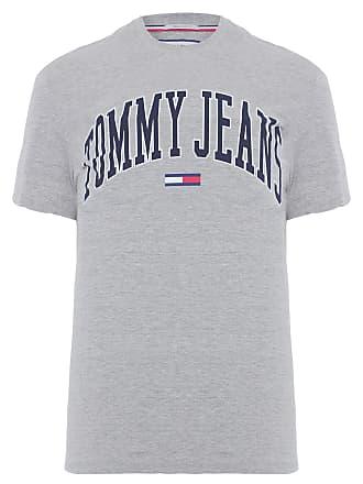 Tommy Jeans CAMISETA MASCULINA COLLEGIATE LOGO - CINZA