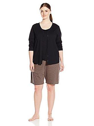 e1f3ed0c7a Jockey Womens Plus Size 3 Piece Cotton Printed Bermuda Pj Set