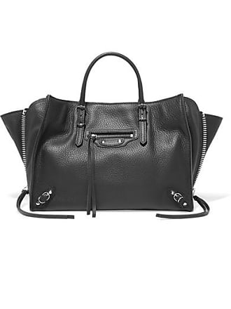 Balenciaga Papier A6 Small Textured-leather Tote - Black