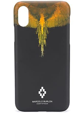 Marcelo Burlon Capa para iPhone X estampada - Preto