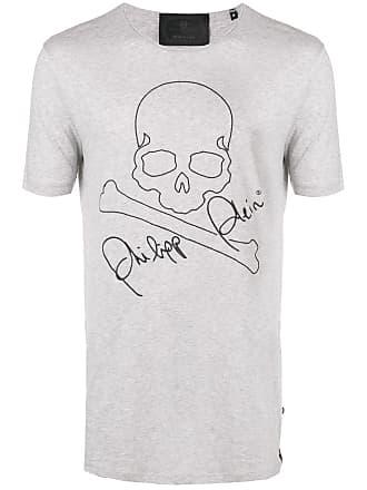Philipp Plein Camiseta com patch de logo - Cinza 56a5e84119577
