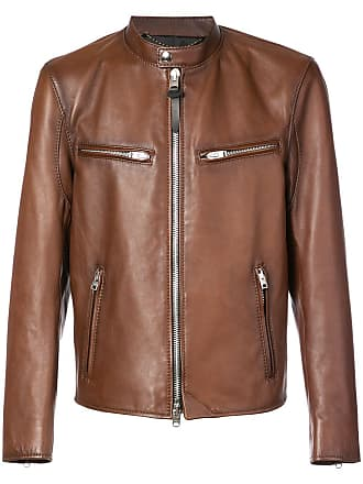 Coach Racer leather jacket - Brown
