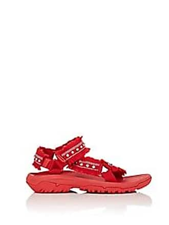 adaa02d8b11f Area Womens Crystal-Embellished Nylon Sandals - Red Size 6