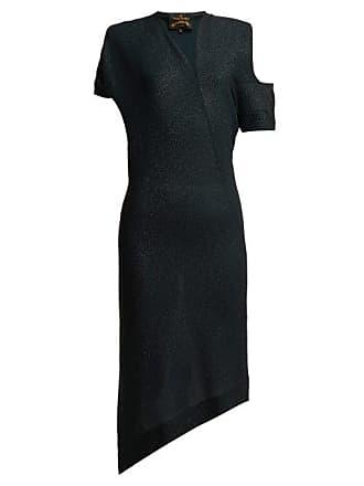 Vivienne Westwood Timans Asymmetric Midi Dress - Womens - Black