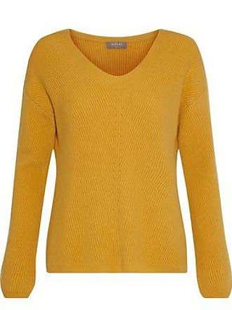 N.Peal N.peal Woman Ribbed Cashmere Sweater Mustard Size XL