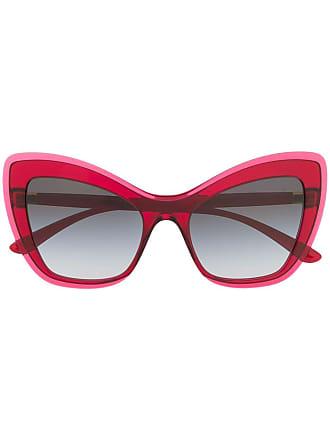 Dolce & Gabbana Eyewear Óculos de sol gatinho oversized - Rosa