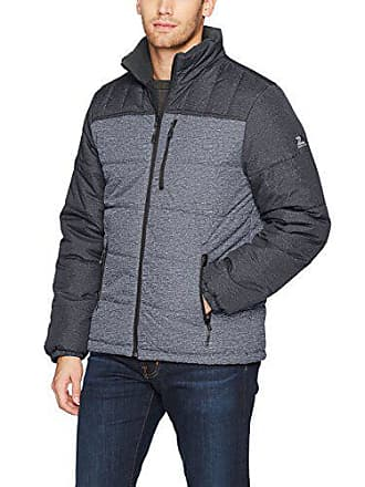 ZeroXposur Mens Flex Quilted Puffer Jacket, Iron Static, Large