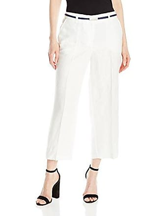 Jones New York Womens Belted Culotte, White 8